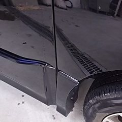 大阪市  ドア修理 トヨタ ヴォクシー 板金塗装の施工前画像